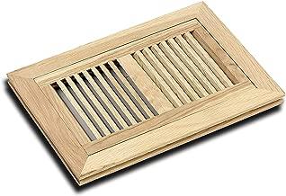 WELLAND Hardwood Flush Mount Floor Register Vent Unfinished,6 inch x 14 inch,White Oakd, Multiple Sizes