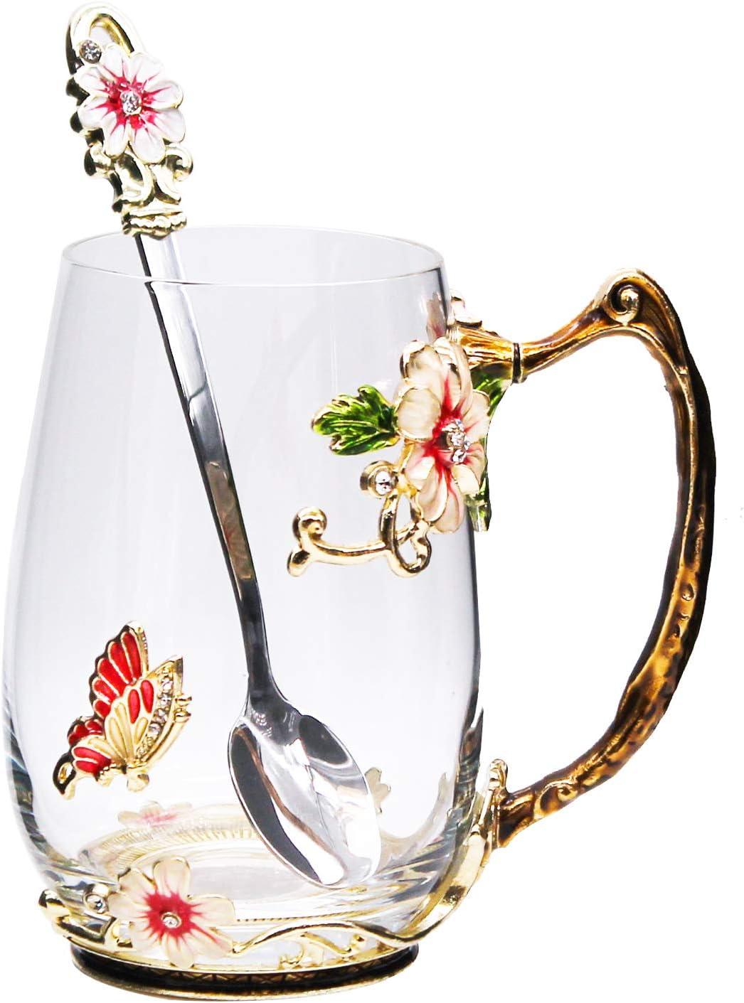 Tea Cup Glass Coffee latest Mugs Lead-Free Cups Handmade Enamel with Import S