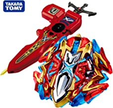 Takara Tomy Beyblade Burst Starter B-120 Buster Xcalibur 1'.Sw Beyblades Set with B-94 Bey Digital Sword Launcher Red