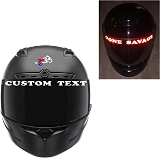 customTAYLOR33 Custom Text High Intensity Grade Reflective Decals for Helmet Visors (Many Color Options, Sold as Pair)