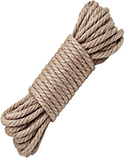 BDSMAGE Hanfseil,Jute Seil,Natürliche Hanfschnur Seile - 4mm,8mm,10mm Dicke und Starke Jutekordel Schärpe,Mehrzweck Utility Hanf Twine Seil 64ft 20m