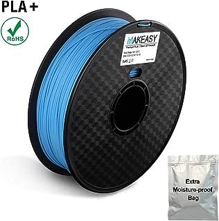 PLA+ PLA Plus Filament 1.75mm for 3D Printer, 1 kg Spool, Dimensional Accuracy +/- 0.02 mm, Blue