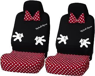 BONFORM (Bonn form) seat cover Disney Lovely Minnie front two 2000-12BK
