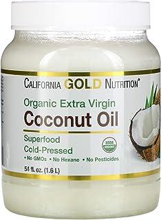 California Gold Nutrition Cold-Pressed Organic Extra Virgin Coconut Oil, 54 fl oz (1.6 L)
