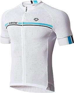 Ciclismo Jersey, Santic para hombre manga corta playera bicicleta