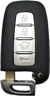 Replacement Keyless Entry Key Fob Case fit for Hyundai Sonata Elantra Genesis Veloster Key Fob Shell for Kia Remote Control Key Fob Cover 4 Button