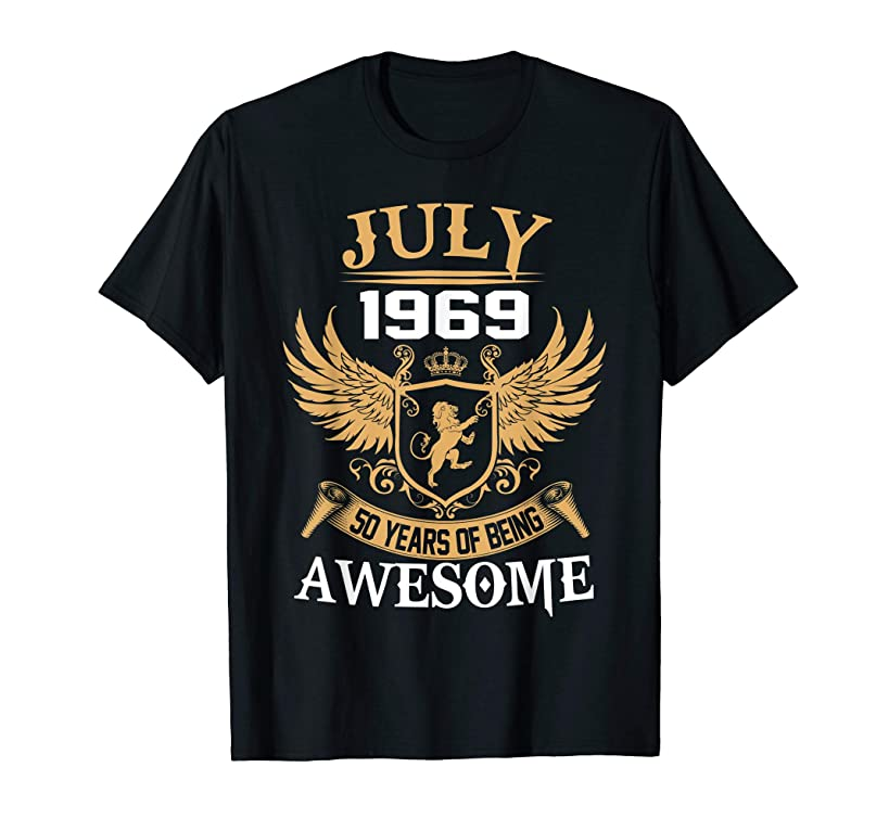 July 1969-50 Years of Being Awesome Birthday Gift T-shirt