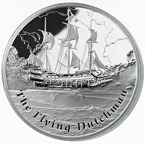 Fantasy Ships The Flying Dutchman Silber Proof Coin  1 Tuvalu