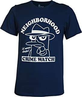 Off Phineas and Ferb Agent P Neighborhood Crime Watch Men's Slim Fit T-Shirt