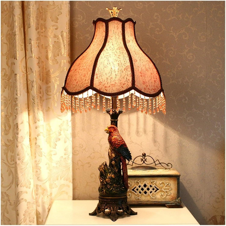 Xiao ping Europäische Retro-Stil Lampe einfache Retro Wohnzimmer Studie Nachttisch Gehweg Harz Lampe Körper 15,5  75,5 cm B07813VM7T     | Niedriger Preis und gute Qualität