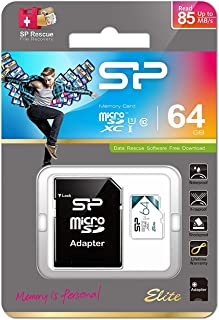 Silicon Power-64GB High Speed MicroSD Card with Adapter