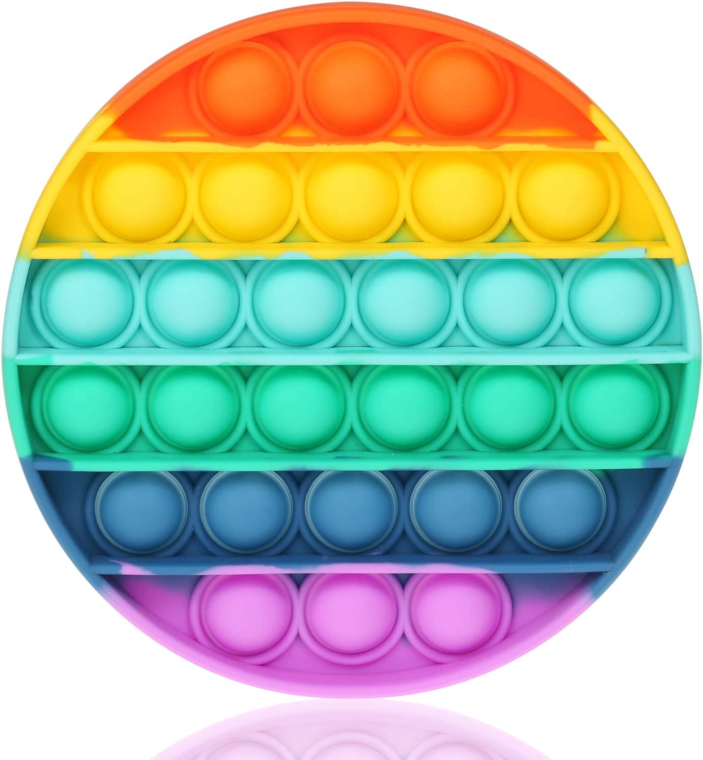 Amazon.com: Fidget Toy with Popping Sound Rainbow Square Push Bubble  Sensory Fidget Toys Pack for Anxiety & Stress Relief Autism Learning  Materials,Squeeze Toy for Kids Teens Office Older: Toys & Games