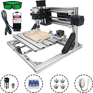 Mophorn CNC Machine 2418 Grbl Control CNC Router Kit 3 Axis PCB Laser Engraver 240X180X40Mm with 2500mW Laser Head Module and Lamp