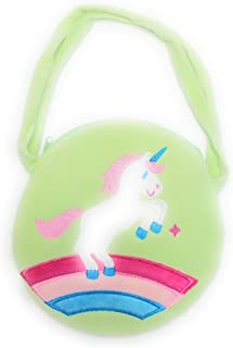 Girls Small Unicorn Circle Handbag Purse, Kids Rainbow Unicorn Party Gift Bag