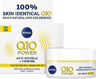 NIVEA Q10 Power Anti-Wrinkle + Firming Age Spot Day Cream SPF30 (50 ml), Anti-Ageing Moisturising Face Cream with Q10 & Cr...