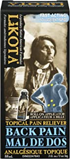 Lakota Back Pain Topical Pain Reliever - 88ml / 3 fl oz Roll-On