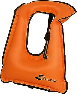 OMOUBOI Inflatable Snorkel Vest Adult for Men Women Large Snorkeling Life Vest for Diving Swimming Safety(Made in 2019)