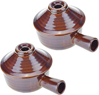 Set of 2 Roe & Moe Ceramic Stoneware Microwave Cooker Great for single-serve soups, eggs, desserts, pies, cheesecake and more