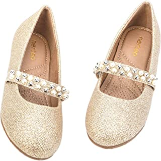nerteo Girls Mary Jane Ballerina Flat Dress Shoes Little Kids/Big Kid