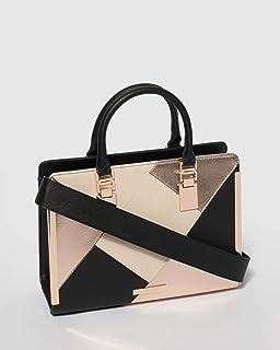 Black Rose Gold June Panel Tote Bag