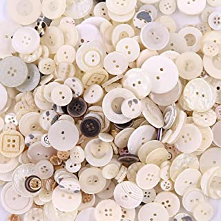 Esoca 650Pcs Shell Buttons Assorted Sizes Resin Craft Buttons for DIY Crafts Sewing Children's Manual Button Painting