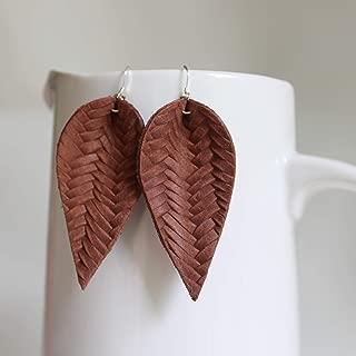 joanna gaines leather earrings