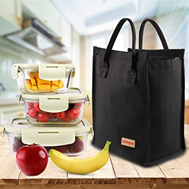 Lunch Bags for Women Men Insulated Lunch Tote Cooler Bag Roomy Reusable Lunch Boxes for School Office Outdoors Meal Prep Bag