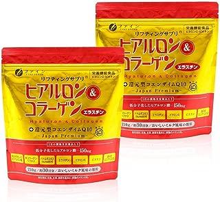 ファイン ヒアルロン&コラーゲン+還元型コエンザイムQ10 袋タイプ ヒアルロン酸150mg コラーゲン5,250mg エラスチン15mg 30日分 (1日7g/210g入)×2個セット