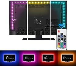تلویزیون Vansky TV نور پس زمینه نور اختلال برای تلویزیون، چراغ نوار نوار USB چراغ نوار چراغ نوار RF از راه دور 30-55 اینچ تلویزیون، دسکتاپ کامپیوتر - کاهش خط چشم افزایش وضوح تصویر