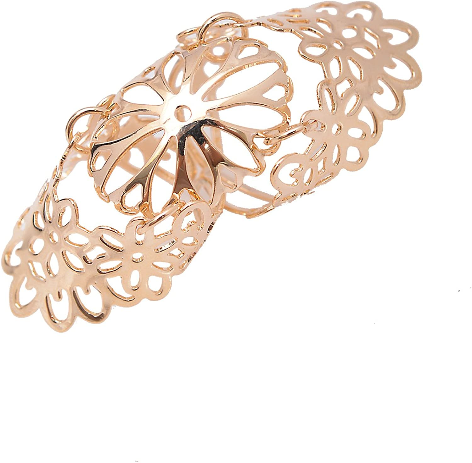 chelseachicNYC Adjustable Floral 3 Piece Knuckle Statement Ring