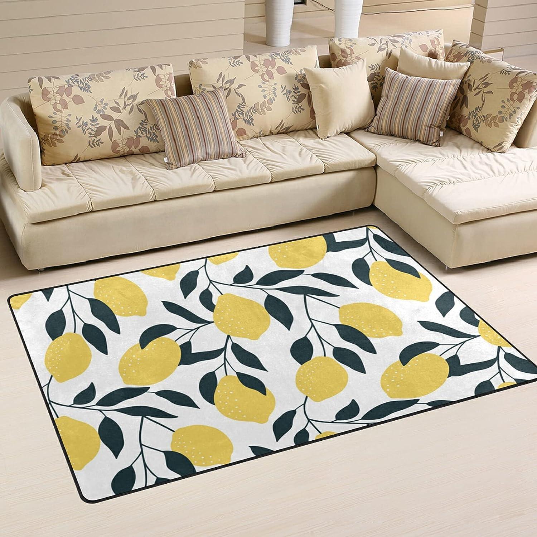 Jacksonville Mall Citrus Lemon Fruits Large Soft Area Playmat Rug Rugs 67% OFF of fixed price Nursery Mat