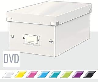 Leitz Caja para Guardar DVDs, Blanco, Gama Click & Store, 60420001