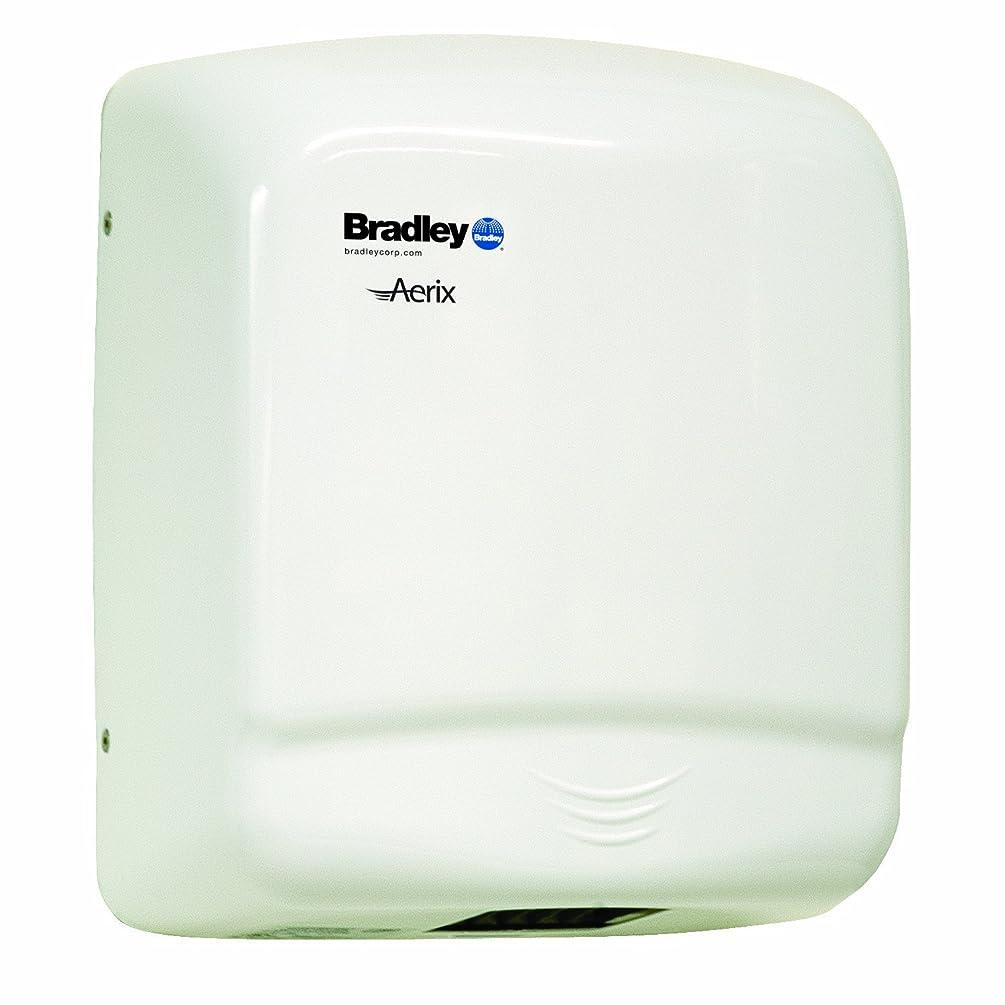 Bradley 2905-287300 White Steel Sensor Operated Standard Warm Air Hand Dryer, 10-1/16