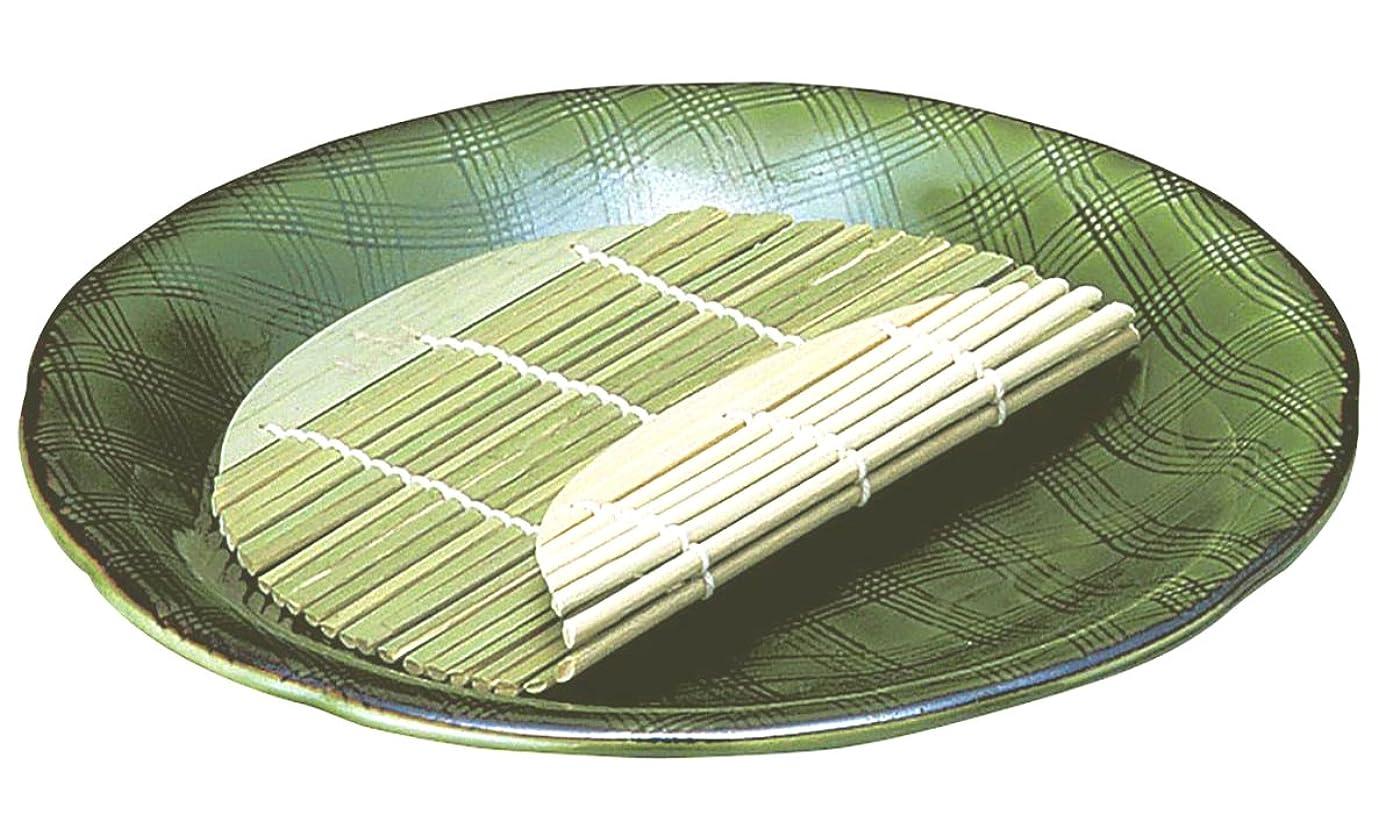 指炎上マイナー萬古焼 麺の器 麺皿 7号 (すのこ付) 織部 10437