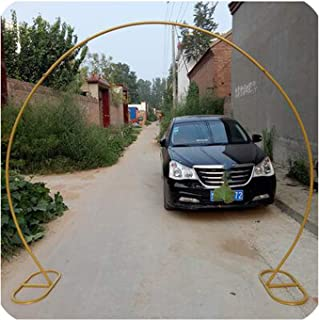 New Wedding Props Golden Ring Shaped Arch Stainless Steel Single Pole Circular arc Wedding Flower Arch Frame,1