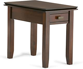 Simpli Home AXCHOL013 Artisan Solid Wood 14 inch Wide Rectangle Contemporary Narrow End Side Table in Medium Auburn Brown