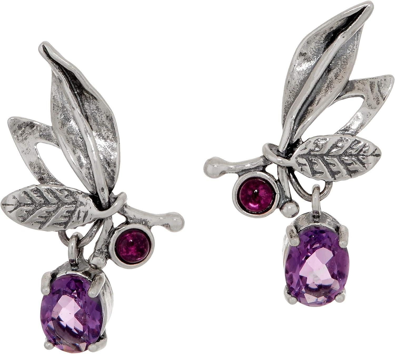 PZ Brand Cheap Sale Venue Paz Creations Multi-Gemstone Earrings Sterl store Girls For Women
