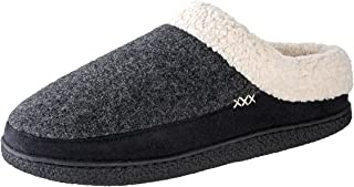 Slippers for Men - Micro Suede Everson | House Shoes I Rubber-Sole | Faux Fur | Indoor Outdoor Men's Slippers
