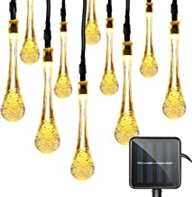 15ft 20 LeD Solar Festival Lights Outdoor Garden String Light Waterproof Tear Drop Style, for Garden, Patio, Yard, Campin...