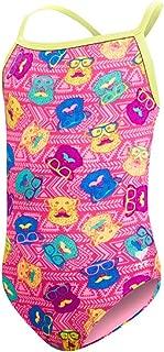 TYR Kids Girl's Diamondfit Bear Dog One-Piece (Little Kids/Big Kids) Pink Medium