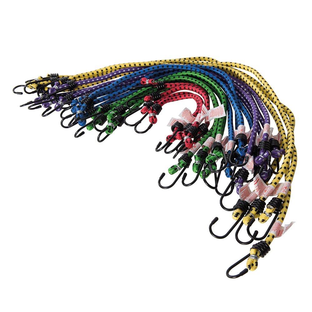 Silverline 759497 Cuerdas el/ásticas Multicolor Set de 20 Piezas