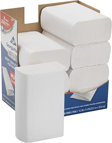 Georgia-Pacific Professional Series Premium 1-Ply Multifold Paper Towels by GP PRO (Georgia-Pacific), White, 2212014,...