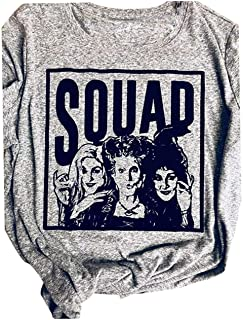 Sanderson Sisters Squad Shirts Women Hocus Pocus Shirts Cute Halloween Costume Tees Shirt