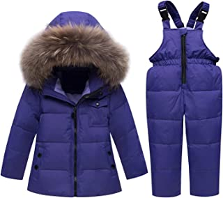 6d6b57cf9 Russian Winter Suits for Boys Girls Ski Suit Children Clothing Set Baby  Duck Down Jacket Coat