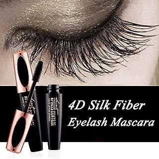 Ginkago 4D Silk Fiber Eyelash Mascara Extension Makeup Black Waterproof Kit Eye Lashes with Bag