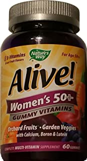 ALIVE - Womens, 50 and Over, Multivitamin Chewable Gummies 60 CT Pack of 2