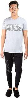 MARVEL Men's Outline Logo Long Sleep Set Pajama