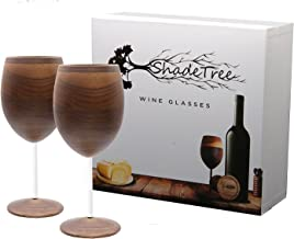 Shadetree Wine Glasses - 8 oz Wood Wine Glasses