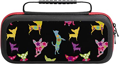 $27 » Happy Chihuahua Case Compatible with Switch Case Protective Carry Bag Hard Shell Storage Bag Portable Travel Case for Swit...