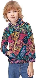 Kid's Novelty Sweater Trippy Multi Cannabis Leaf Weed Thicken Hoodies Warm Hooded Pullover Top Sweatshirt-